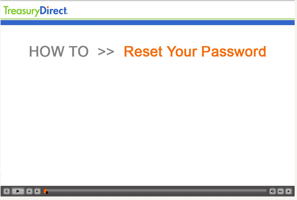 How to reset your password demo screen
